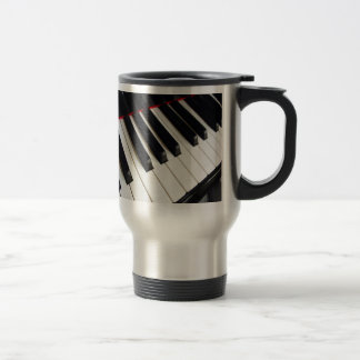 Piano Keys Photograph Travel Mug