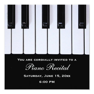 Piano Keys Piano Recital Invitations
