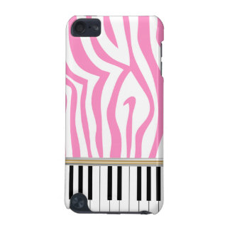 Piano Keys Pink Zebra Print iPod Touch (5th Generation) Covers