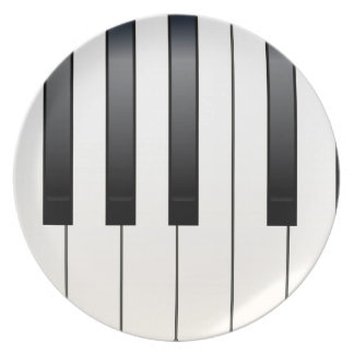 Piano Keys Plate