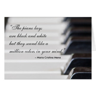 Piano Keys Quote Card