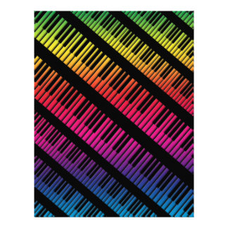 Piano Keys Rainbow Of Color Personalized Flyer