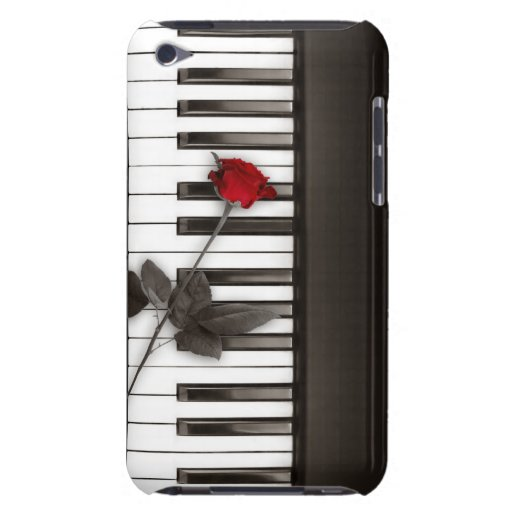Piano Keys Red Rose Music Lover iPod Touch case