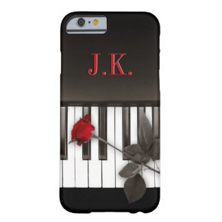 Piano Keys Red Rose Music Monogram iPhone 6 case