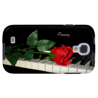 Piano Keys & Red Rose Samsung Galaxy S4