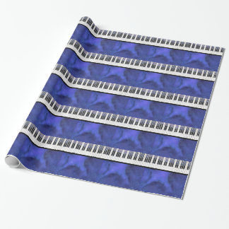 Piano Keys Sheet Music Modern Twist Wrapping Paper