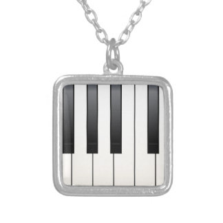 Piano Keys Silver Plated Necklace