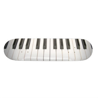 piano keys skateboard deck