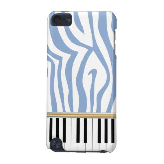Piano Keys Sky Blue Zebra Print iPod Touch (5th Generation) Cases