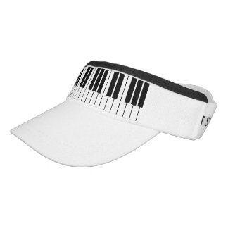 Piano keys sun visor cap for beach, sport and more