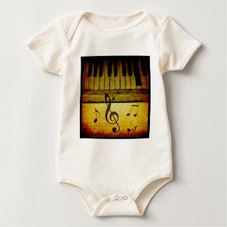 Piano Keys Vintage Baby Bodysuit