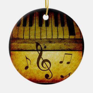 Piano Keys Vintage Ceramic Ornament