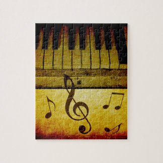 Piano Keys Vintage Jigsaw Puzzle
