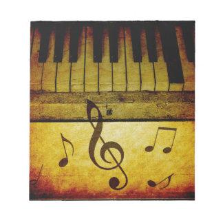 Piano Keys Vintage Notepad
