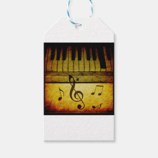 Piano Keys Vintage Pack Of Gift Tags