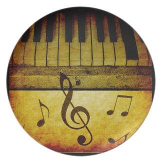 Piano Keys Vintage Plate