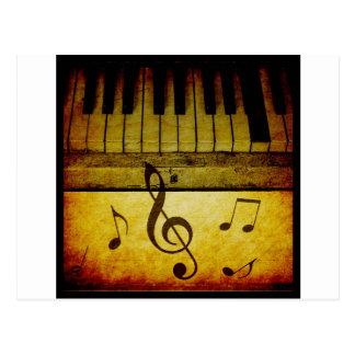 Piano Keys Vintage Postcard
