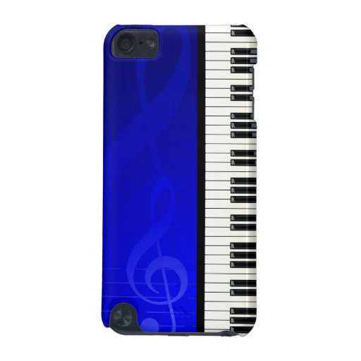 Piano Keys with Blue effect musical notes samsung3 Apple Ipod5 Case