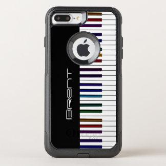 Piano Keys With Dark Rainbow Highlights Music OtterBox Commuter iPhone 8 Plus/7 Plus Case