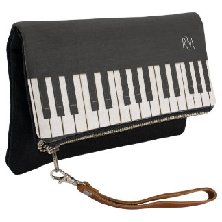 Piano Keys with (or without) your Initial(s) Clutch