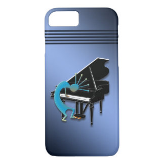 Piano Kokopelli in Blue iPhone 7 Case