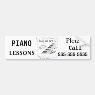 Piano Lessons - Customizable Bumper Sticker