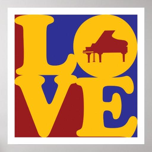 Piano Love Poster