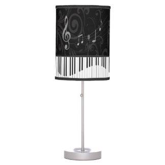 Piano lunatique et notes musicales