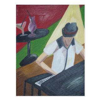 Piano Man Postcard