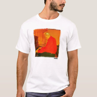 Piano Man printed art t-shirt