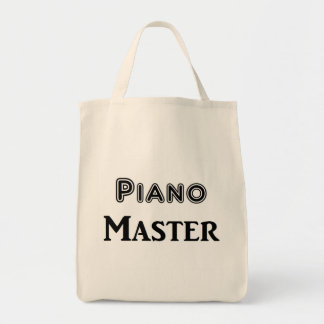 Piano Master Grocery Tote Bag