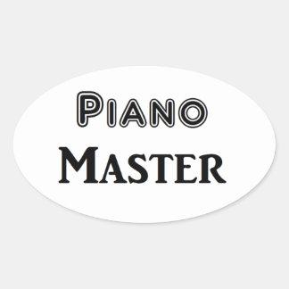 Piano Master Oval Sticker