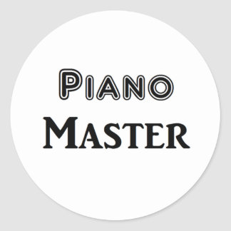 Piano Master Round Sticker