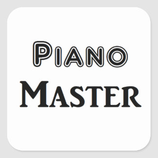 Piano Master Square Sticker