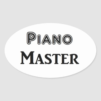 Piano Master Oval Stickers