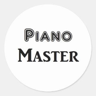 Piano Master Round Stickers