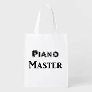 Piano Master Reusable Grocery Bags
