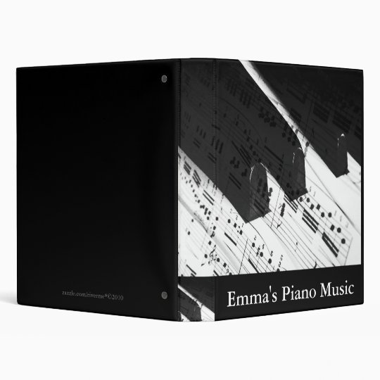 Piano Music Collection Custom Binder