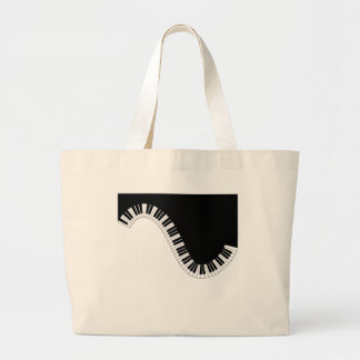 PIANO MUSIC LARGE TOTE BAG