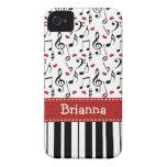 Piano Music Note iPhone 4 / 4s Case-Mate Cover Case-Mate iPhone 4 Case