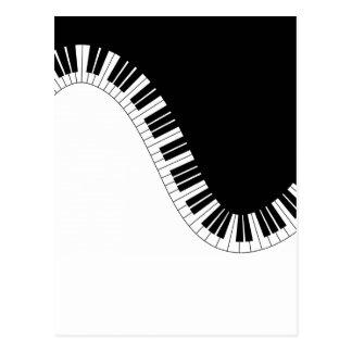 PIANO MUSIC POSTCARD