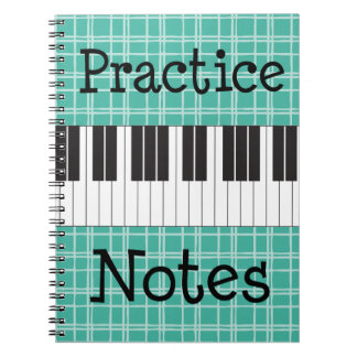 Piano Music Practice Notes Notebooks