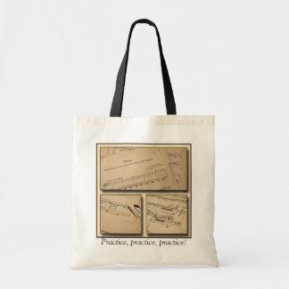 Piano Music Practice Tote Bag