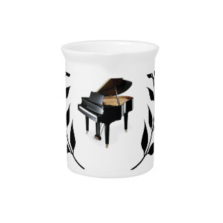piano music seal beverage pitchers