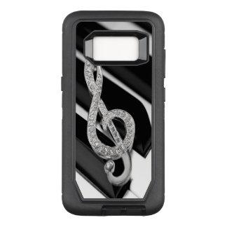 piano Music symbol OtterBox Defender Samsung Galaxy S8 Case