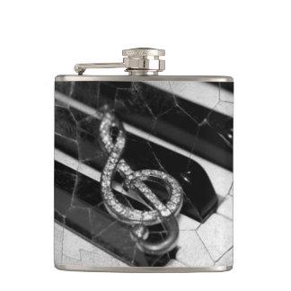 Piano Musical symbol Hip Flask