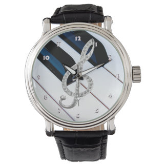 Piano musical symbol watch