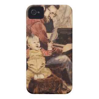 Piano Musician Father and Son iPhone 4 Case-Mate Cases