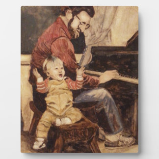 Piano Musician Father and Son Plaque