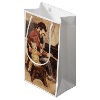 Piano Musician Father and Son Small Gift Bag